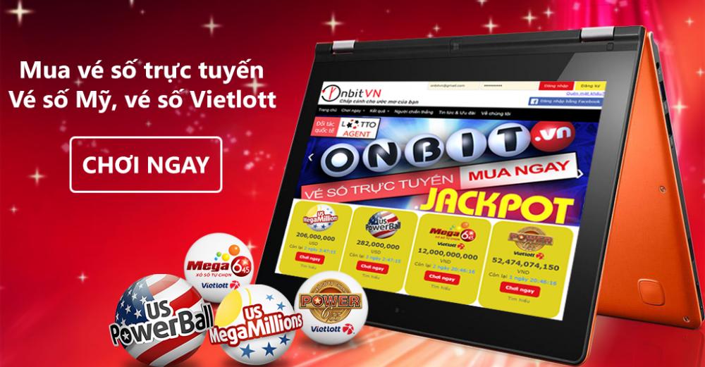 Website và Ứng dụng Onbit - Dịch vụ mua xổ số Vietlott trực tuyến số 1