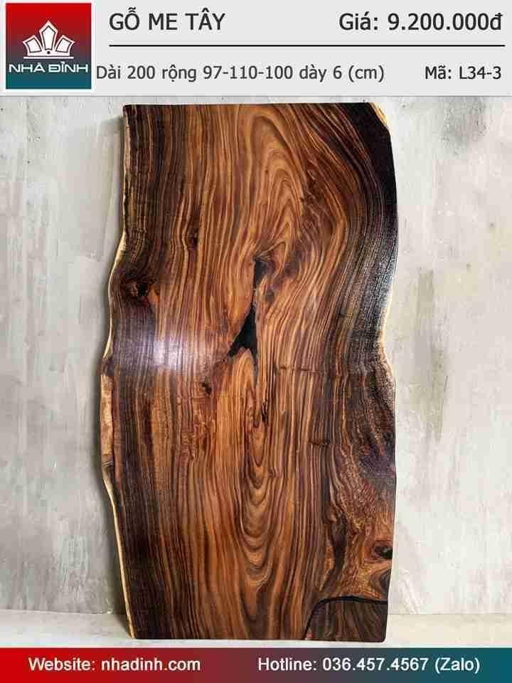 Màu sắc gỗ Me Tây