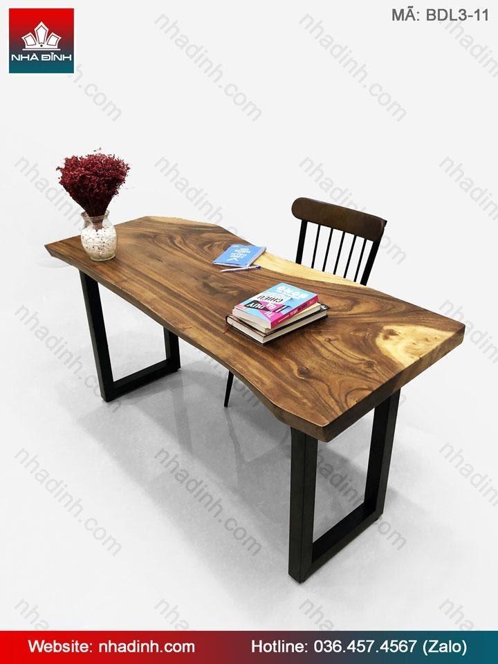 Nhà Đỉnh- cung cấp mẫu bàn làm việc gỗ Me Tây đẹp